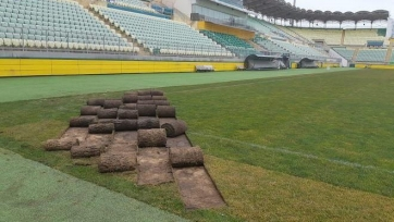 «Анжи» заявил о плановых работах на газоне клубного стадиона