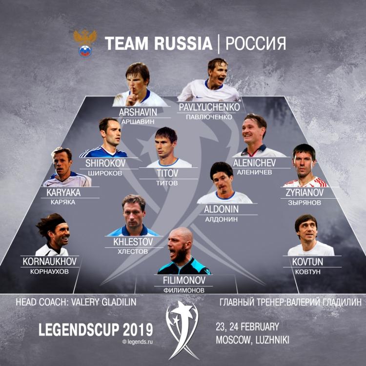 Аршавин попал в состав сборной России на Кубок Легенд