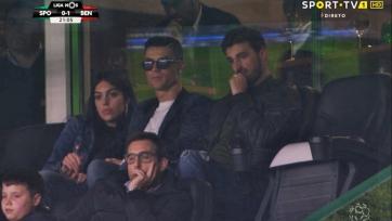 Роналду с подругой посетил лиссабонское дерби. Фото