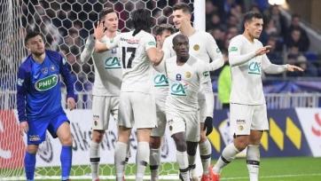«ПСЖ» лишь в дополнительное время переиграл клуб третьей лиги в Кубке Франции