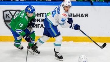 Хоккеист «Барыса» признан лучшим нападающим недели в КХЛ