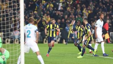 «Зенит» минимально уступил «Фенербахче» в первом поединке 1/16 финала Лиги Европы