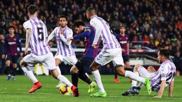 «Барселона» с минимальным счетом обыграла «Вальядолид»