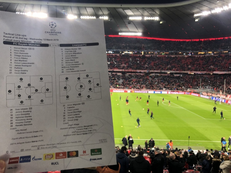 «Бавария» - «Ливерпуль» - 1:3. Текстовая трансляция матча