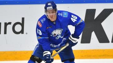 КХЛ признала игрока «Барыса» лучшим нападающим февраля