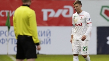 «Локомотив» ходатайствует об отмене желтой карточки Денисову