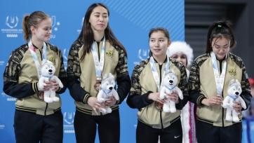 Женская сборная Казахстана по шорт-треку – бронзовый призер Универсиады-2019