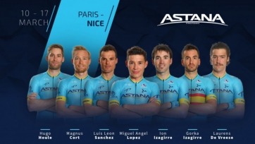 «Астана» объявила состав на гонку тура «Париж – Ницца»
