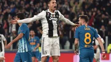 Хет-трик Роналду в ворота «Атлетико» вывел «Ювентус» в 1/4 финала Лиги чемпионов