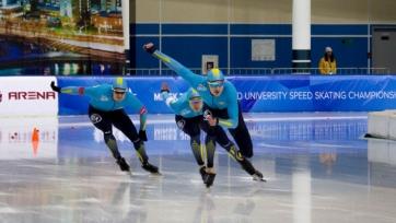 Казахстанец выиграл турнир в Калгари по конькобежному спорту