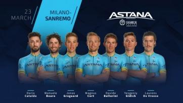 Назван состав «Астаны» на «Милан - Сан Ремо»