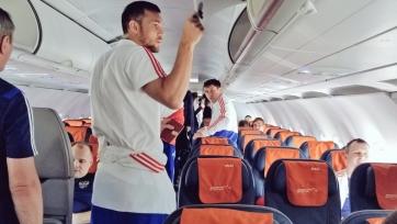Сборная России прибыла в Казахстан