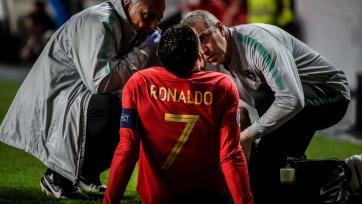 Роналду получил травму в матче против Сербии