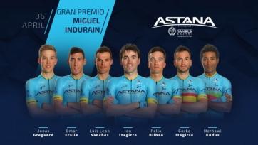 «Астана» назвала состав на «Гран-при Мигеля Индурайна»
