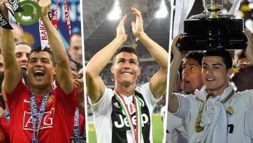 Роналду – первый игрок выигравший титулы чемпиона Англии, Испании и Италии
