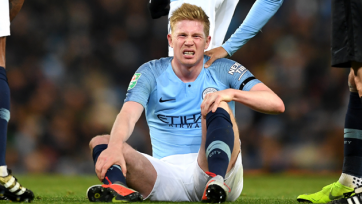 Де Брейне получил травму и рискует пропустить дерби Манчестера