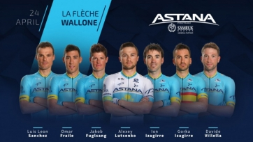 Назван состав «Астаны» на велогонку «Флеш Валлонь»