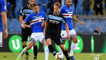 «Лацио» на выезде обыграл «Сампдорию», очередной гол Квальяреллы