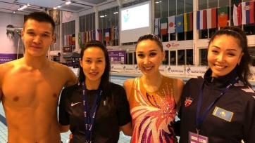 Казахстанский дуэт стал вторым на турнире по синхронному плаванию