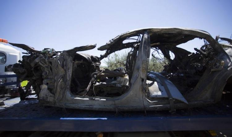 Появилось фото разбитой машины Рейеса