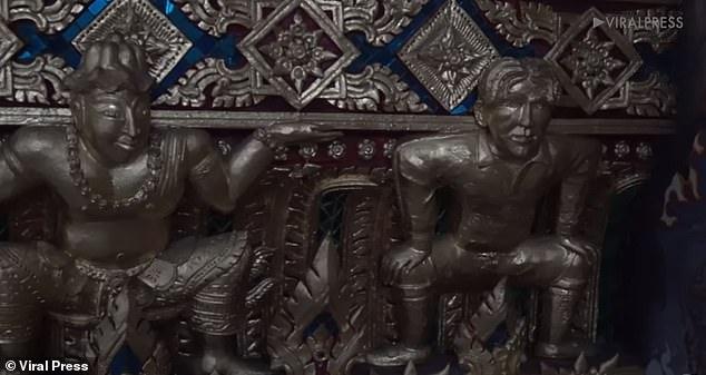 В Бангкоке в буддийском храме выгравирована статуя Бекхэма