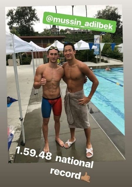 Пловец Мусин установил неофициальный рекорд Казахстана