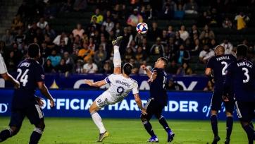 Ибрагимович забил красивый гол через себя в MLS. Видео