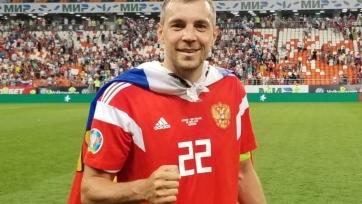 Дзюба вошел в топ-4 бомбардиров сборной России