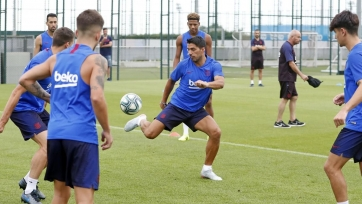 Суарес игнорировал Гризманна на тренировке «Барселоны»