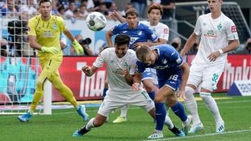 «Хоффенхайм» вырвал победу у «Вердера», а «Байер», «Фрайбург» и «Боруссия» М выиграли в гостях