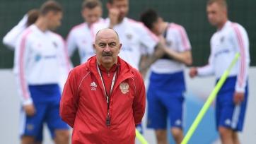 Сборная России готовится к игре со сборной Шотландии в полном составе