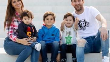 6-летний сын Месси наследовал скоростные качества от отца. Видео