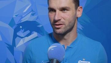 Иванович: «Доволен, что провел сотую игру за «Зенит»
