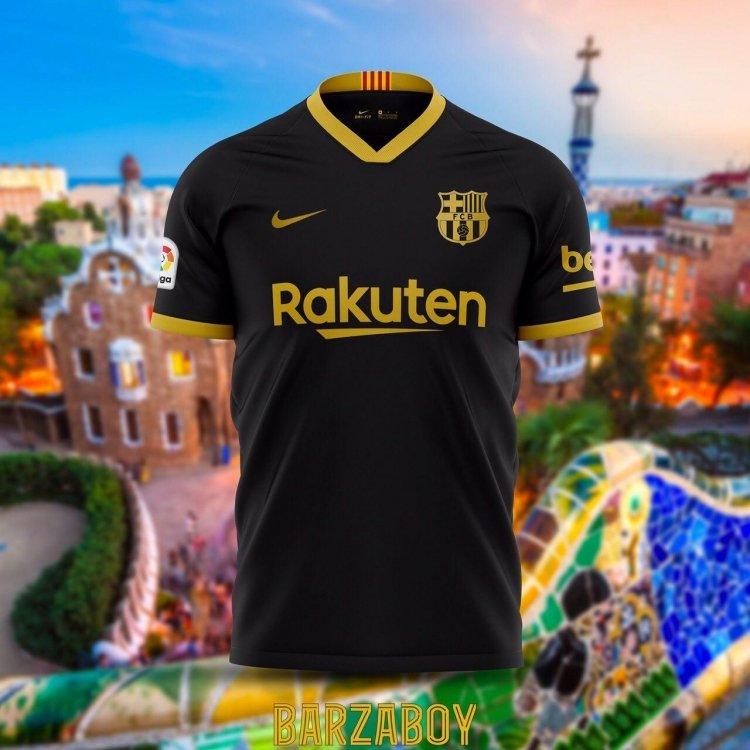 Гостевая форма «Барселоны» на сезон 20/21. Фото
