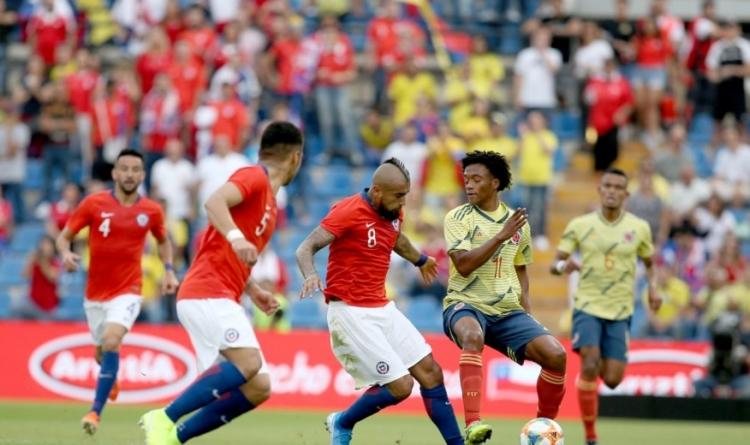 Колумбия и Чили в спарринге обошлись без сильнейшего