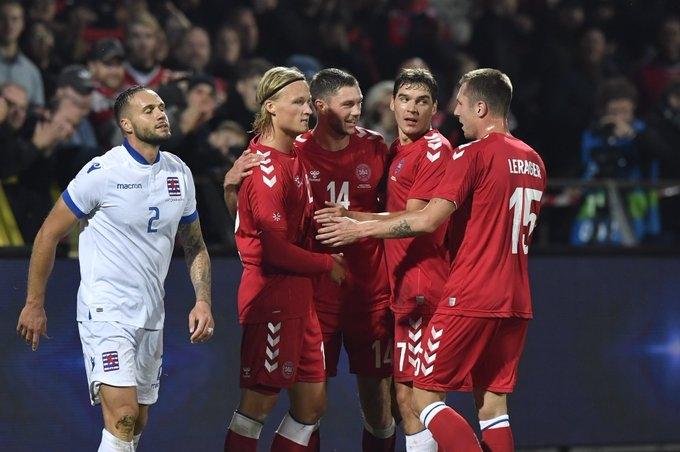 Дания разгромила Люксембург в товарищеском матче