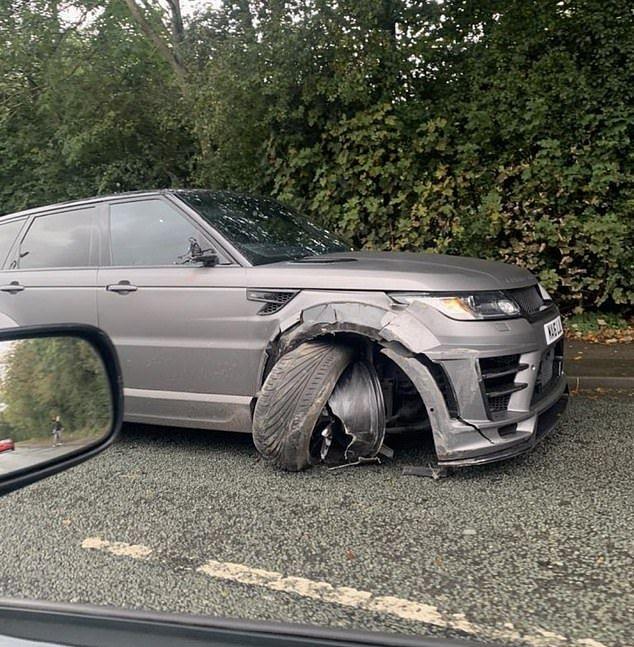 Агуэро попал в аварию. Фото
