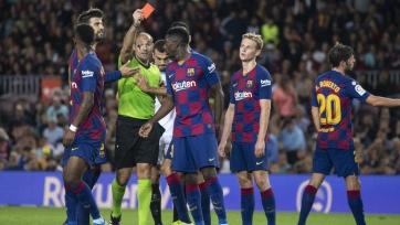 Дембеле пропустит игру с «Реалом» из-за дисквалификации