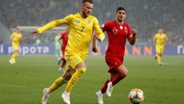 Украина досрочно заняла первое место в группе, переиграв Португалию