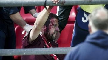 Матч Юношеской лиги УЕФА между «Олимпиакосом» и «Баварией» не был доигран из-за массовой драки на трибунах. Видео