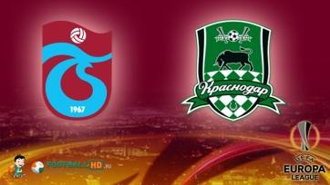 «Трабзонспор» – «Краснодар» – 0:2. Текстовая трансляция матча