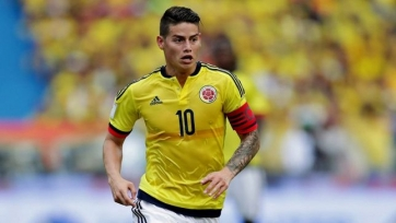 Хамес Родригес получил травму в стане сборной Колумбии