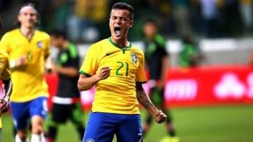 Гол со штрафного от Коутиньо стал первым для Бразилии за 5 лет. Видео