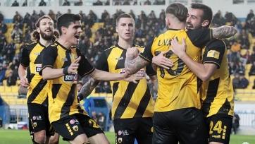 АЕК Карреры в первом четвертьфинале Кубка Греции сыграл вничью