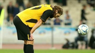 Чигринский получил травму на разминке перед матчем с «Панатинаикосом»