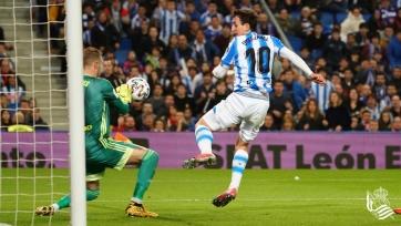 «Реал Сосьедад» выиграл домашний полуфинал Кубка Испании у «Мирандеса»