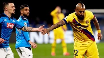 «Барселона» не сумела обыграть «Наполи» в выездной части дуэли