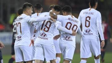 «Кальяри» и «Рома» забили семь мячей на двоих