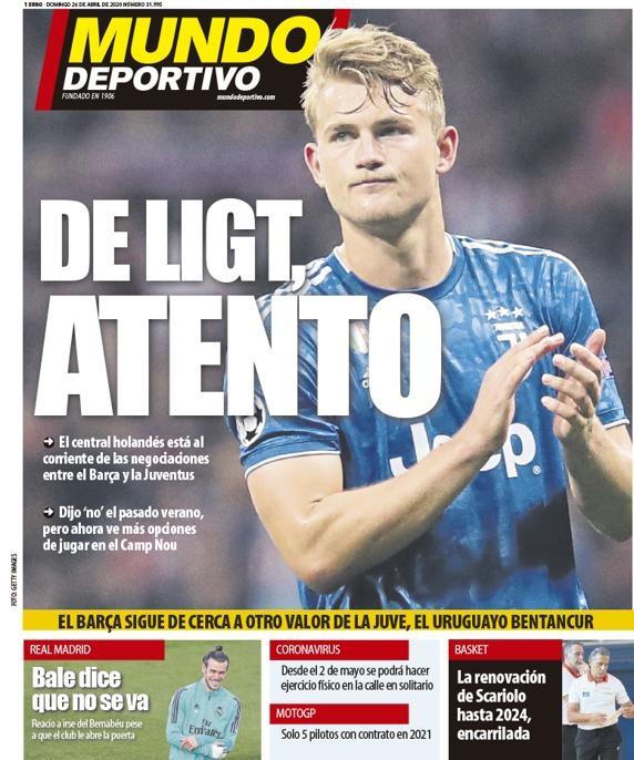 «Барселона» не перестает думать о де Лигте