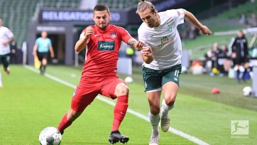 «Вердер» сыграл вничью с «Хайденхаймом» в первом переходном матче Бундеслиги